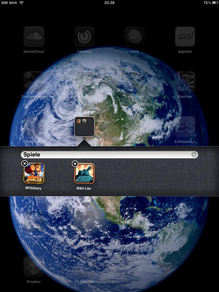 Apps sortieren - Ordner erstellen