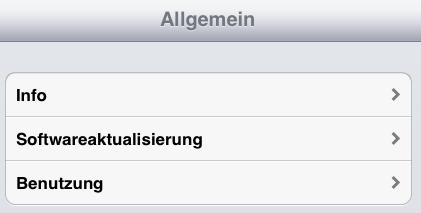 Benutzung auf dem iPad