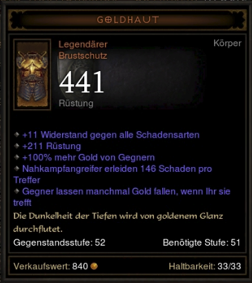 Diablo 3 Goldhaut