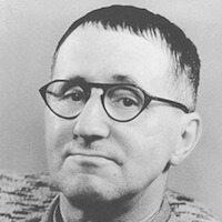 Brecht im Jahre 1954. Quelle: Deutsches Bundesarchiv